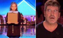 8-Year-Old Magician on BGT 'Scares' Simon With Trick, Wait Until She Removes Her Jacket