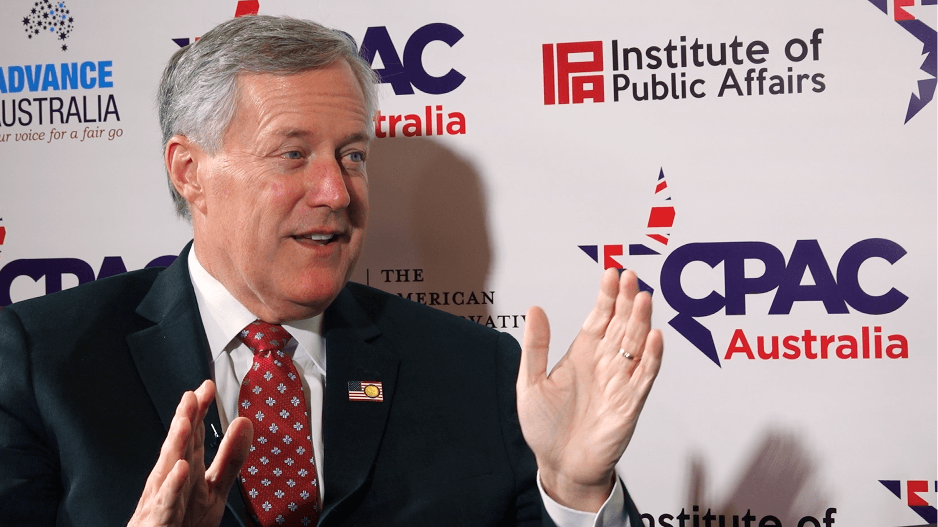 [CPAC Australia Special] Freedom Is Vital to Prosperity—Rep. Mark Meadows on Hong Kong Protests & Censorship
