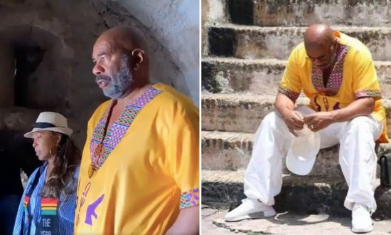 Steve Harvey Weeps and Feels 'Real Pain' as He Tours Ghana Slave Castle With Family