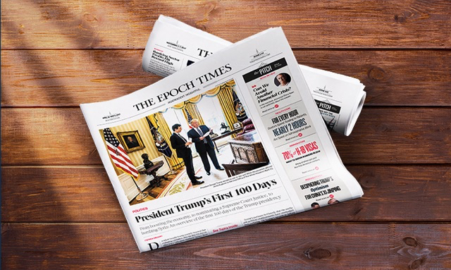 The Epoch Times newspaper. (Epoch Times staff)