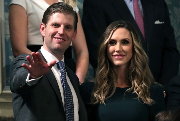 Eric Trump and Lara Trump attend the State of the Union address