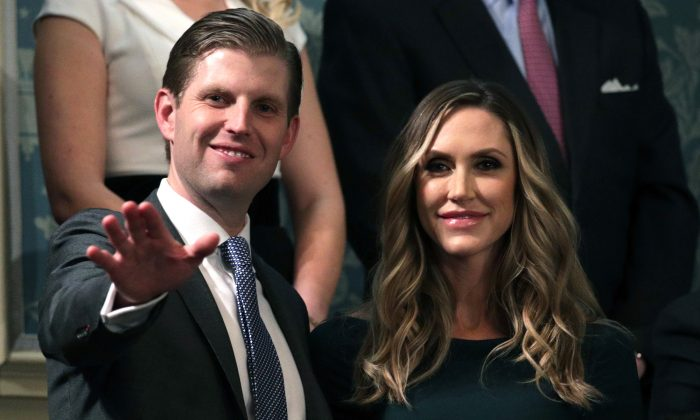 Eric Trump and Lara Trump attend the State of the Union address in Washington, DC, on Jan. 30, 2018. (Alex Wong/Getty Images)