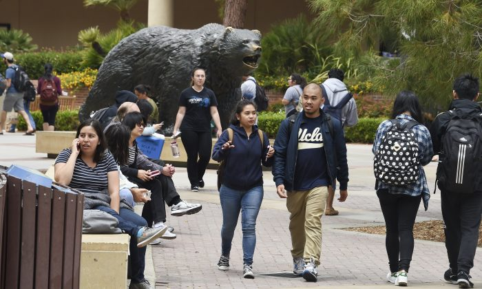 People at the University of California Los Angeles (UCLA) campus in Los Angeles on June 1, 2016. (ROBYN BECK/AFP/Getty Images)