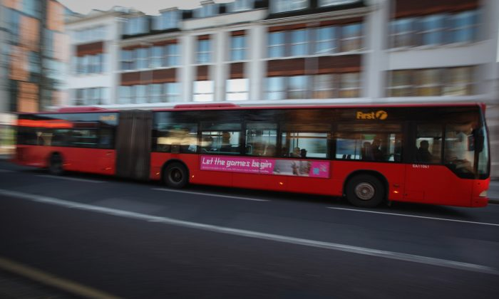 An articulated bus is see in this file photo. (Peter Macdiarmid/Getty Images)