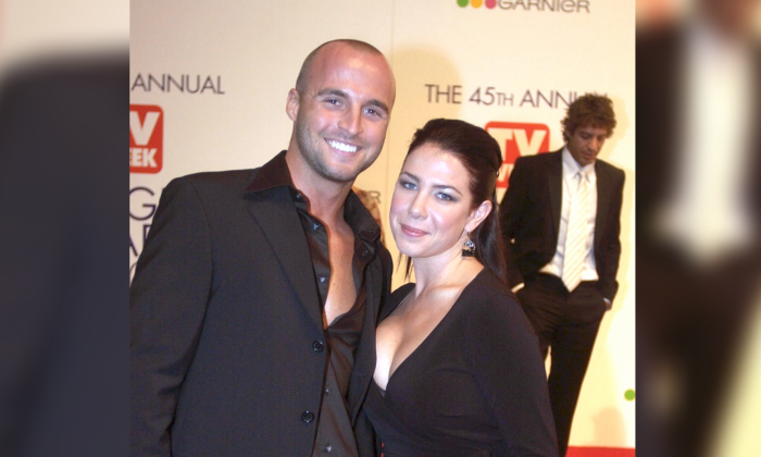 Ben Unwin and Kate Ritchie arriving on the red carpet for the 45th Annual TV Week Logie Awards 2003 held at the Crown Casino, Melbourne, Australia, on 11 May, 2003. (Patrick Riviere/Getty Images)