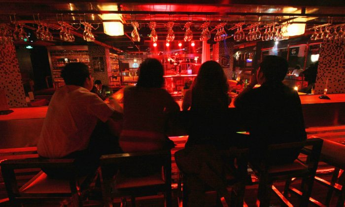A bar at night in China in this file photo. (China Photos/Getty Images)
