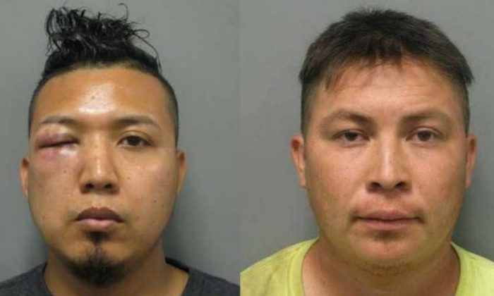 Mauricio Barrera-Navidad, 29 and Carlos Palacios-Amaya, 28, both illegal immigrants from El Salvador, raped an 11-year-old girl, the girl said. Police found pictures of the girl with Palacios-Amaya on his cellphone. (Montgomery County Police Department)