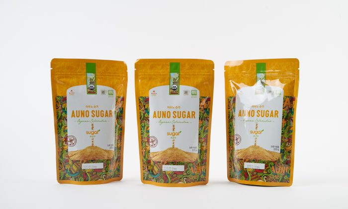 Auno Organic Mineral Raw Sugar is a superior sugar that has has a lower glycemic index than refined sugar. (Auno)