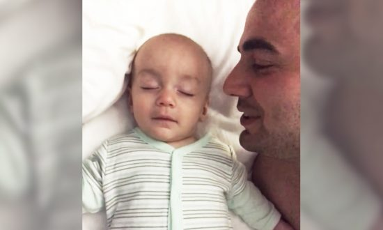 Dad Films Sleeping Baby's Precious Reaction As He Whispers 'I Love You'
