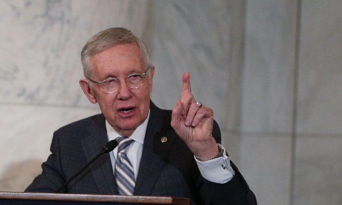 Then-U.S. Senate Minority Leader Sen. Harry Reid (D-Nev.) on Capitol Hill on Dec. 8, 2016. (Alex Wong/Getty Images)