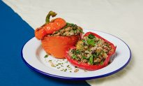 Fonio Stuffed Peppers