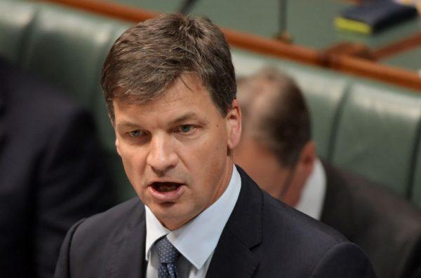 Australia's Energy Minister Angus Taylor