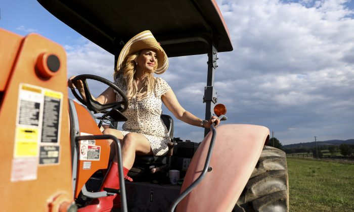 Martha Boneta on Liberty Farm in Paris, Va., on Aug. 8, 2019. (Samira Bouaou/The Epoch Times)