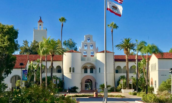 The campus of San Diego State University, San Diego, Calif., Aug. 20, 2019. San Diego State University is the latest American university to shut down its Confucius Institute. (Gisela Sommer/The Epoch Times)