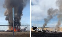 Northern California Jet Fully Engulfed in Flames; 10 Aboard Unhurt