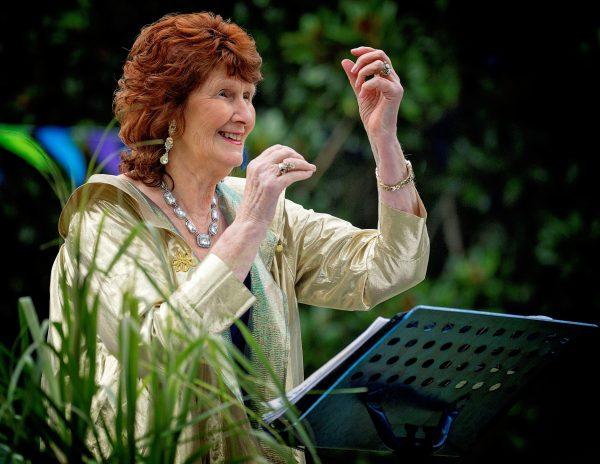 Lady conducting music