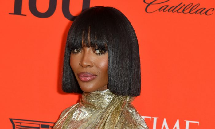 British model Naomi Campbell arrives on the red carpet for the Time 100 Gala at the Lincoln Center in New York on April 23, 2019. (Angela Weiss/AFP/Getty Images)