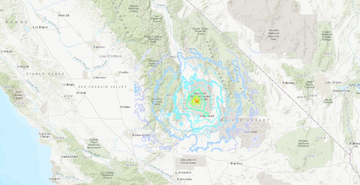 USGS: 5.0 Magnitude Earthquake Hits Near Ridgecrest, California