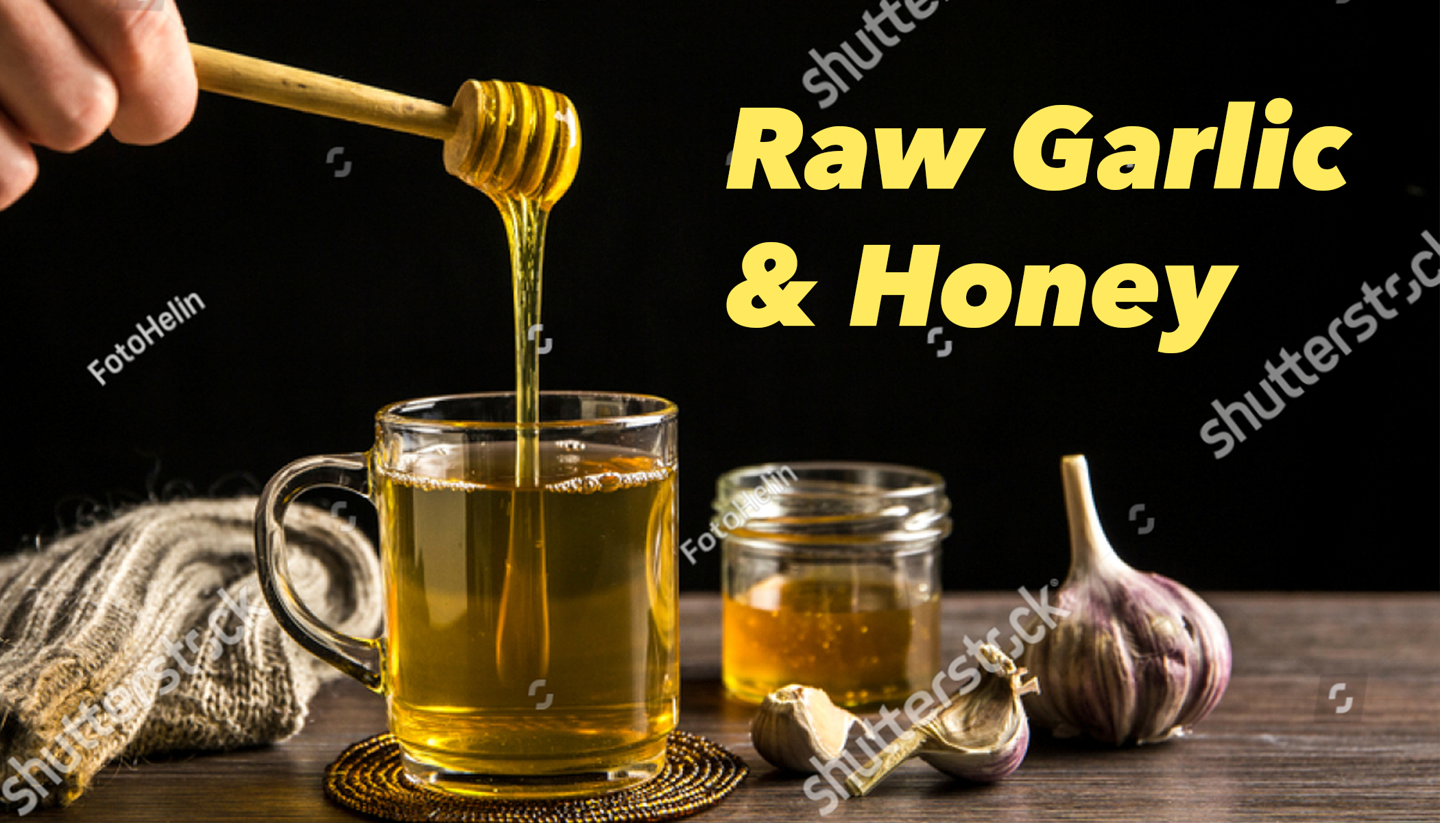 Raw Garlic and Honey Is Good for Your Health and Body