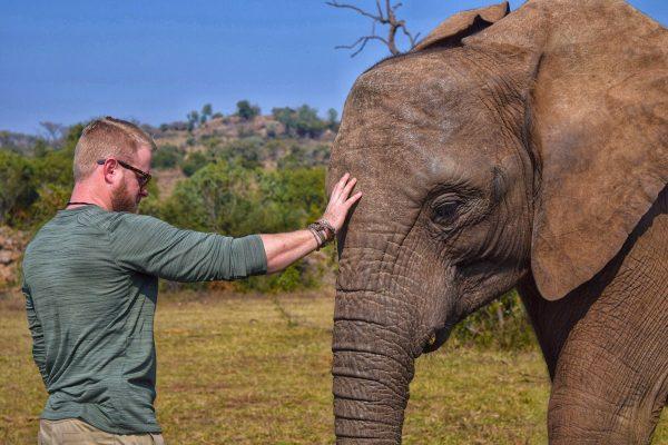 Tate with an elephant