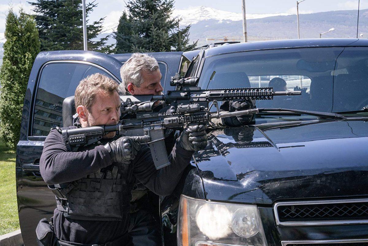 "Two men with rifles in ""Angel Has Fallen"""