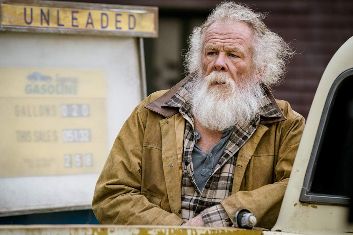 """man with white beard and brown jacket in """"Angel Has Fallen"""""""