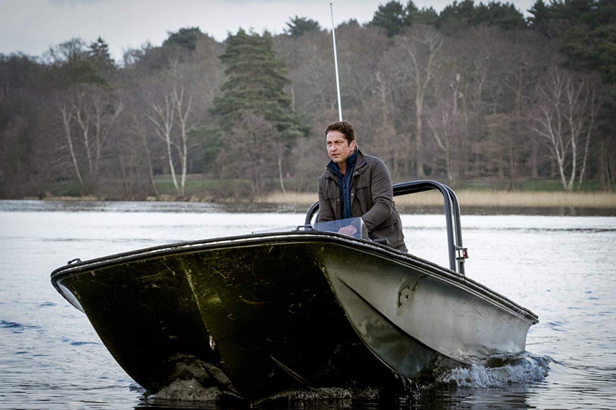 """Man in boat in """"Angel Has Fallen"""""""