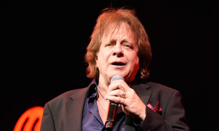 Musician Eddie Money performs on stage during the iHeart80s Party 2017 at SAP Center in San Jose, Calif., on Jan. 28, 2017. (Time Mosenfelder/Getty Images)