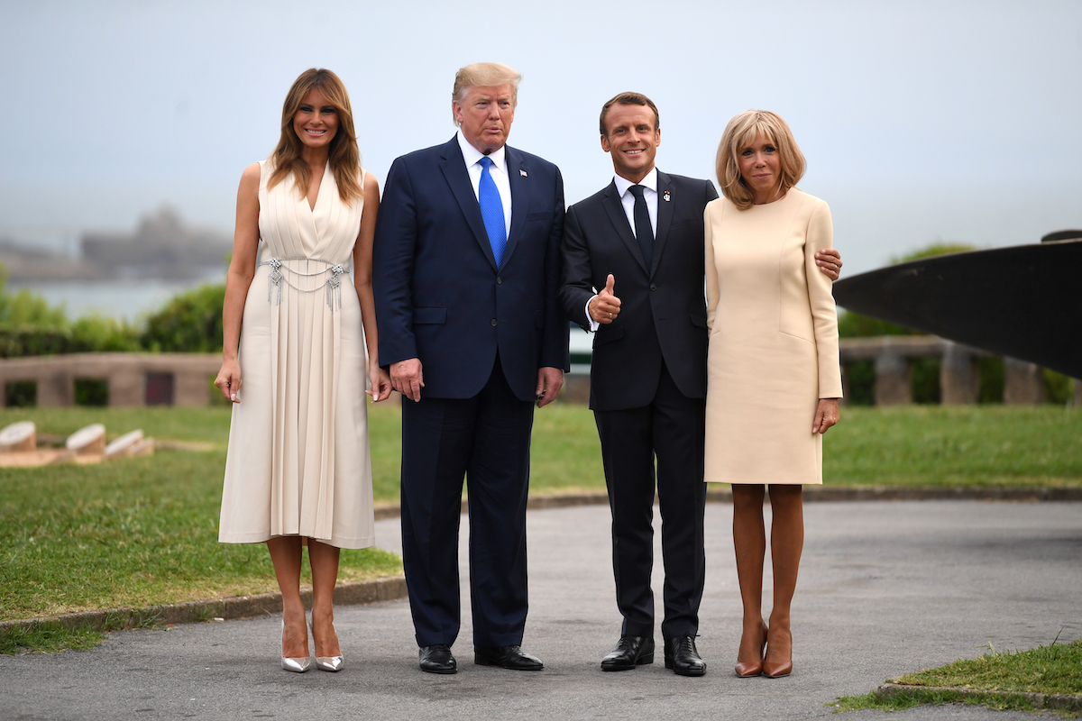 Melania Trump Turns Heads With Dazzling Sleeveless Cream Dress for Dinner at G7 Summit