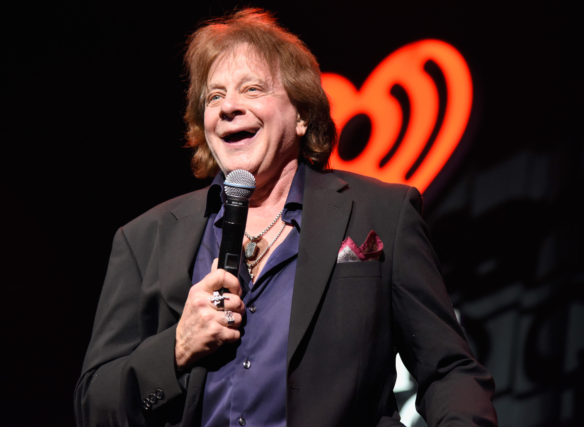 Musician Eddie Money performs on stage during the iHeart80s Party 2017 at SAP Center