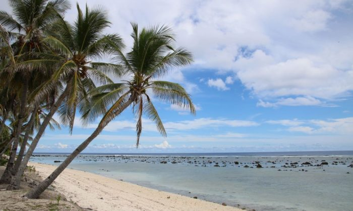A beach view in Ewa on the Pacific island of Nauru where asylum seekers are housed as part of Australia's offshore processing policy on Sept. 2, 2018. (MIKE LEYRAL/AFP/Getty Images)