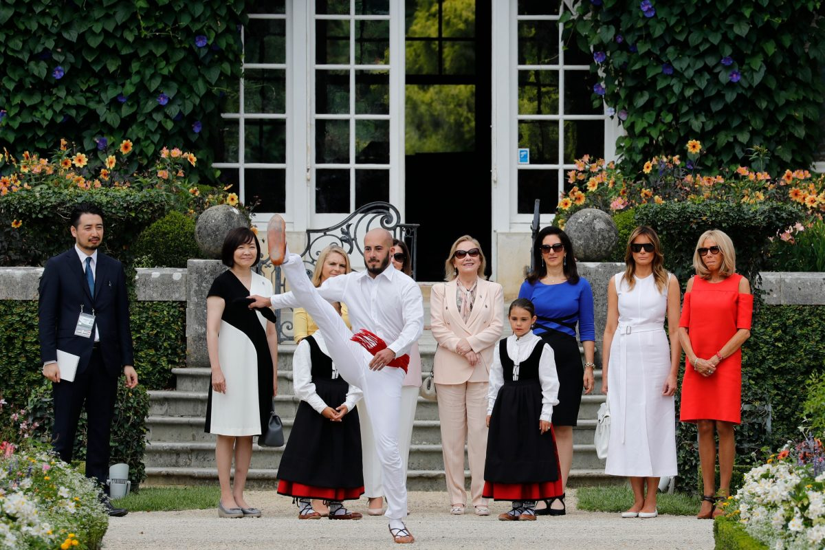 G7 leaders' spouses in France