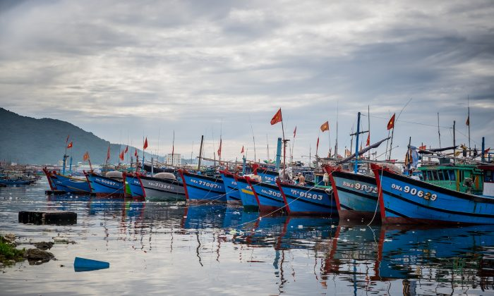 Landscape of the Thuan Phuoc port with fishing boats in Danang, Vietnam. Vietnam, on Aug. 30, 2016. (Linh Pham/Stringer/Getty Images)