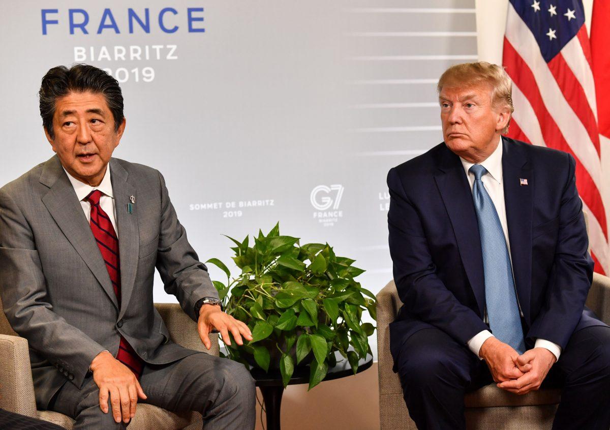 Shinzo Abe and Trump