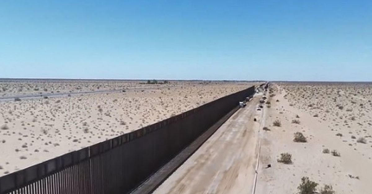 Border Patrol Unveils 60 Miles of US-mexico Border Wall in Drone Footage
