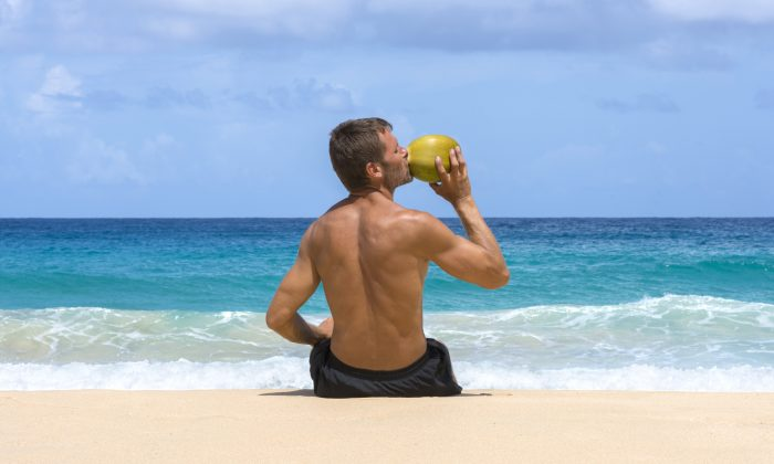 One of the best beverages to replace electrolytes is coconut water, which contains five of the six minerals. (Chad Zuber/Shutterstock)