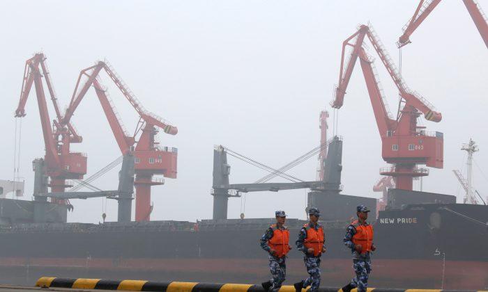 A crude oil tanker is seen at Qingdao Port, Shandong province, China, April 21, 2019.  (Jason Lee/Reuters)