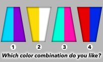 Psychology Test: The Color Combinations You Pick Can Reveal Your Personality