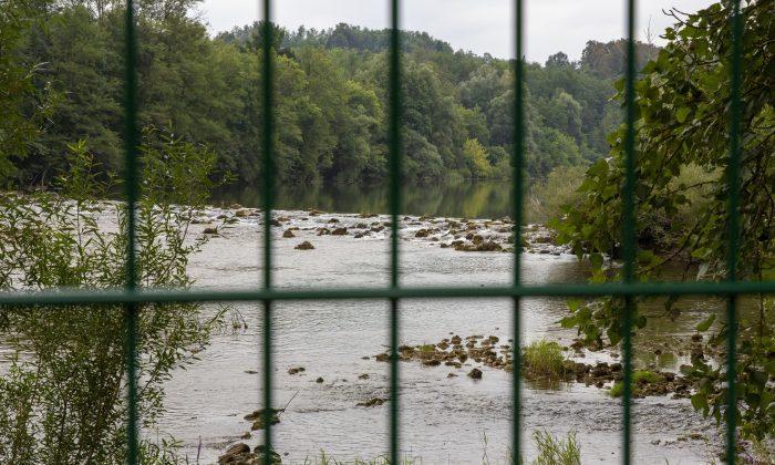 The Kupa river on the Slovenia-Croatia border on Aug. 23, 2019. (Darko Bandic/AP)