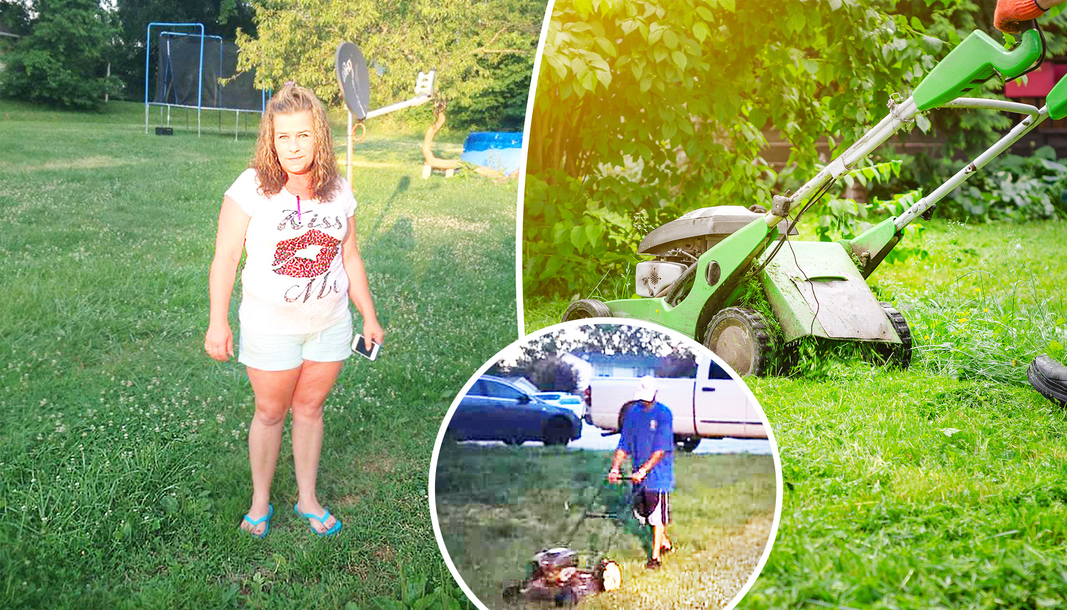 Woman Confronts a Stranger Mowing Her Lawn–Then He Says a Few Words That Leave Her in Tears