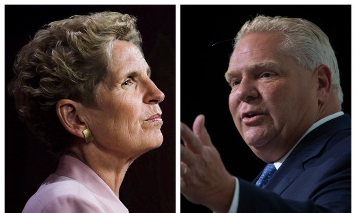 In its absurdity, the Wynne-Ford sex-ed curriculum—as it must now be officially denominated, since Premier Doug Ford's campaign promise to repeal it has been revealed as a sham—is nothing new. (Canadian Press/Nathan Denette; Adrian Wyld)