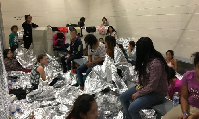 In this handout photo provided by the Office of Inspector General, overcrowding of families is observed by OIG at the U.S. Border Patrol McAllen Station Centralized Processing Center on Jun. 11, 2019 in McAllen, Tex. (Office of Inspector General/Department of Homeland Security via Getty Images)