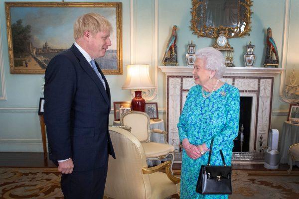 Queen Elizabeth II and Boris Johnson