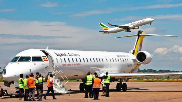 Uganda Airlines Bombadier aircraft 3