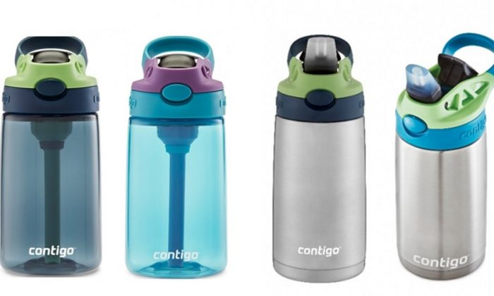 Millions of Contigo Kids Cleanable Water Bottles have been recalled because a silicone spout can detach and pose a choking hazard for children, the US Consumer Product Safety Commission stated on Aug. 27, 2019. (Consumer Product Safety Commission  See Caption)