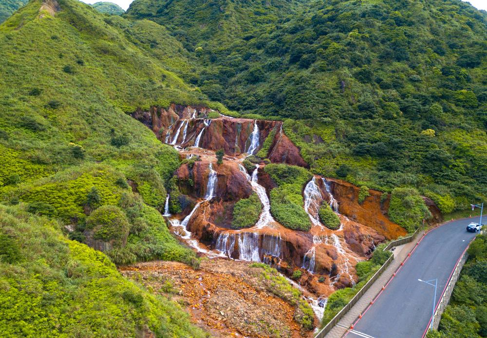 golden waterfall in ruifang taiwan