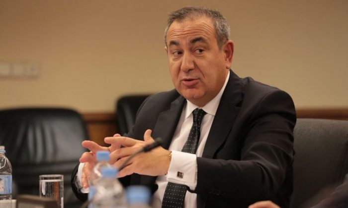 "Joseph Mifsud at the seminar ""Security Challenges in the Gulf and Prospects for Political Settlement in Yemen"" in Moscow on Oct. 5, 2017. (Russian International Affairs Council)"