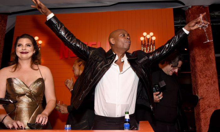 Dave Chappelle attends the 2018 Netflix Primetime Emmys After Party at NeueHouse Hollywood in Los Angeles on Sep. 17, 2018. (Photo by Michael Kovac/Getty Images for Netflix)