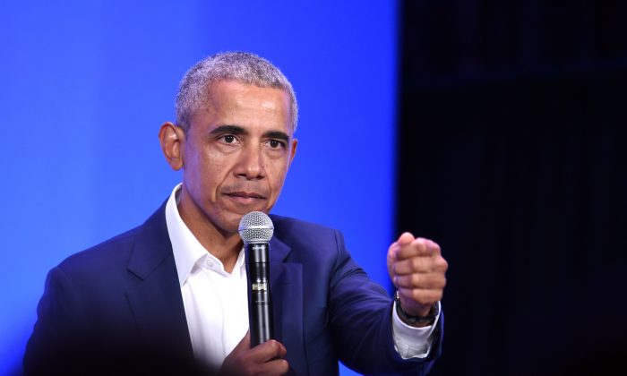 Former President Barack Obama in Oakland, Calif., on Feb. 19, 2019. Obama's Organizing for America group has been criticized by fellow Democrats. (JOSH EDELSON/AFP/Getty Images)