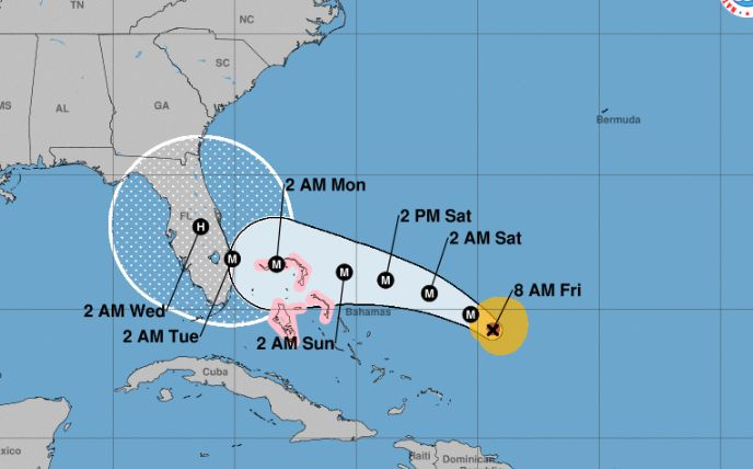 Hurricane Dorian now expected to make landfall Tuesday morning